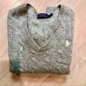 Woman's Light Gray Polo Sweater